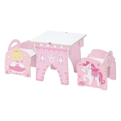 Princess Castle Play Table and Chair Set by Buildex