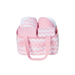 Pink Sky 5 Piece Baby Bath Gift Set by Trend Lab