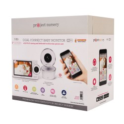 """5"""" HD Dual Connect Wi-Fi Baby Monitor System by Project Nursery"""