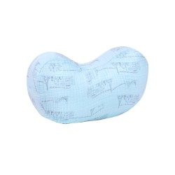 Carousel Blue Muslin Nursing Pillow by Bebe Au Lait