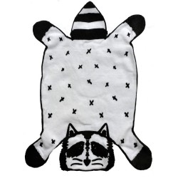 Dribble Droolers Burp Cloth - Rocco The Raccoon by Young and Free