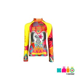 Krio Color Zipper Rashguard long Sleeve - Elefante Circus