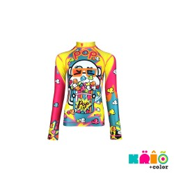 Krio Color Zipper Rashguard long Sleeve - Scimia Popcorn