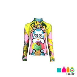 Krio Color Zipper Rashguard long Sleeve - Giraffa Ice Cream