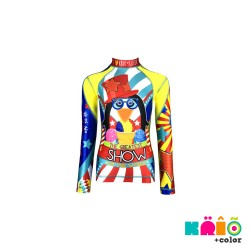 Krio Color Zipper Rashguard long Sleeve - Pinguino Circus