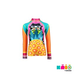 Krio Zipper Rashguard Long Sleeve - Mucca Pineapple