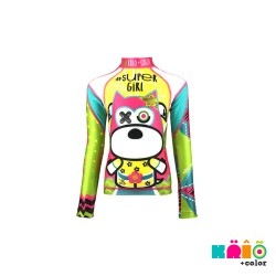 Krio Zipper Rashguard Long Sleeve - Super Girl