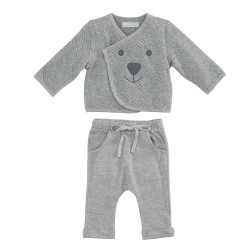 Gray Organic Baby Jacket and Pants by Elegantbaby