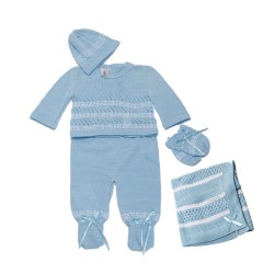 Blue Knitted Gift Set