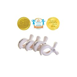 Strollerbuddy® Stroller Clips 4 Pack - White by Dreambaby
