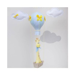Hot Air Ballon Giraffe Mobile