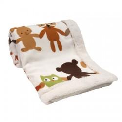 Lambs & Ivy Little Woodland Blanket