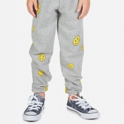 Black Smiley Sweatpant - Lauren Moshi
