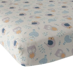 Happi by Dena™ Night Owl Fitted Crib Sheet